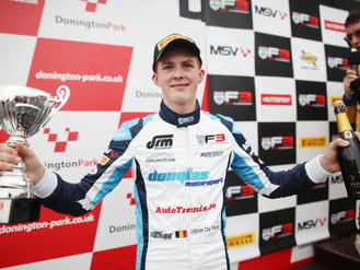 Ulysse De Pauw Returns For Second BRDC British F3 Campaign With Douglas Motorsport