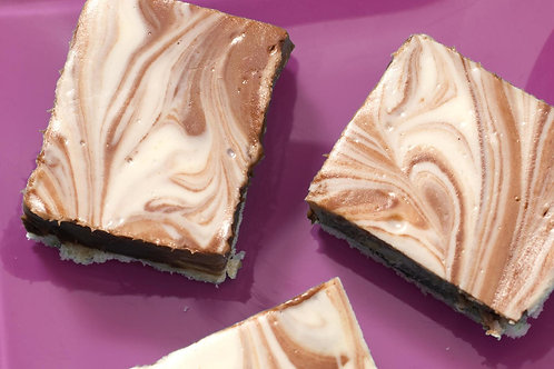Gluten Free Marble Cheesecake Bars/Slice