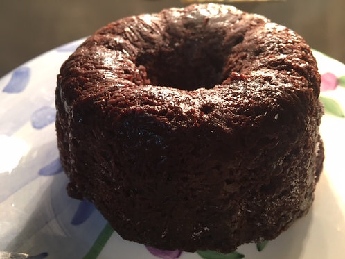 Vegan Gluten Free Double Chocolate Beet Mini-Bundt Cake/Cake