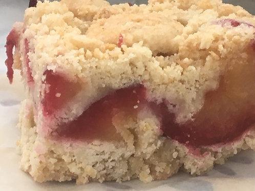 Gluten-Free Plum Crumble/Slice