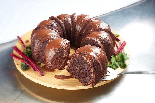 Whole Vegan GF Double Chocolate Beet Bundt Cake