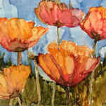 Lake Louise Poppies I