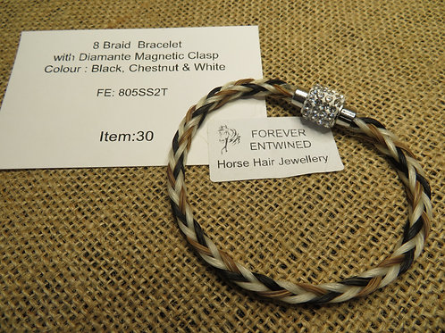 8 Braid Bracelet with Magnetic Clasp