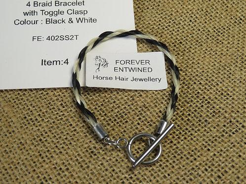 4Braid Bracelet with Toggle Clasp