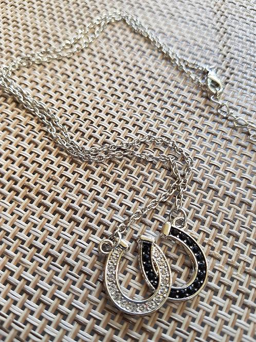 Alloy Double Horseshoe Necklace
