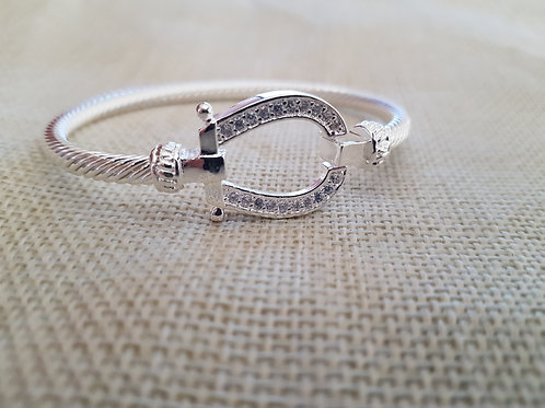 925 Silver Plated Bangle