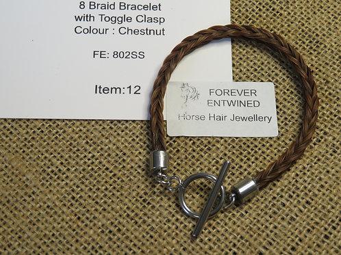 8 Braid Bracelet with Toggle Clasp