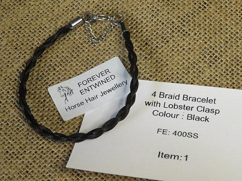 4 Braid Bracelet with Lobster Clasp