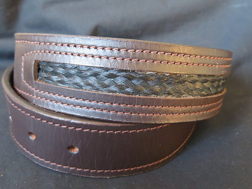 Leather Inlay Belt