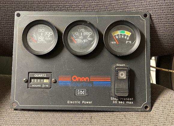 Onan Starboard Generator Pre-Heat Control Panel Gauge 300-324802