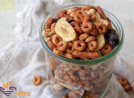 Banana Nut Snack Mix