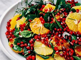 Salat með Appelsínum og Granateplum