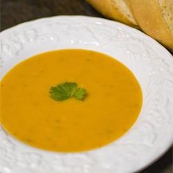 Butternut og sellerí súpa