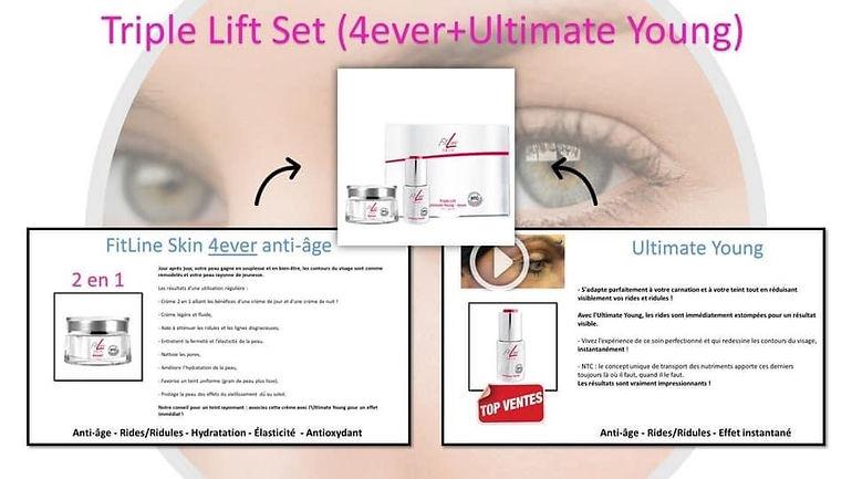 Triple Lift Set (4ever+Ultimate Young), crème, ride lio, ride front, anti ride, creme anti rides