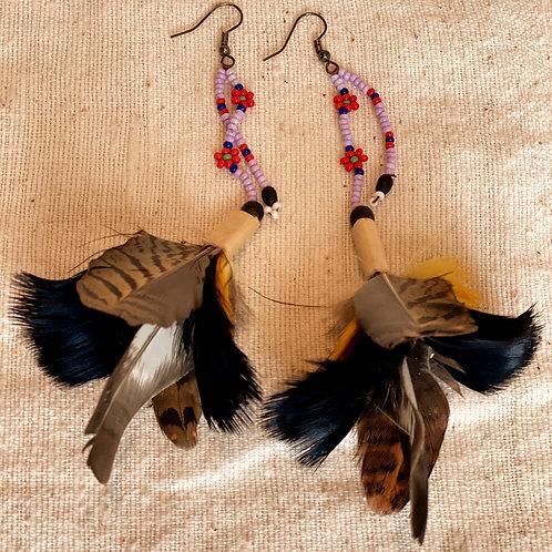 Sapara Feather Earrings #4