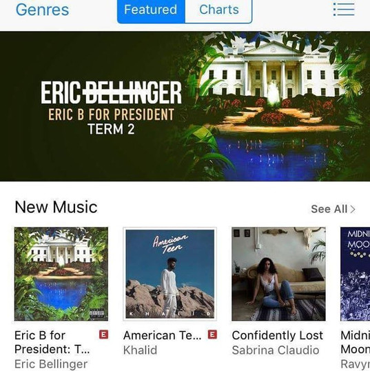 Number 3 on the R&B album charts on iTun