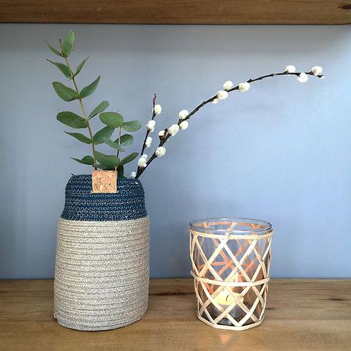Hemp Bud Vase- Glitter Edition