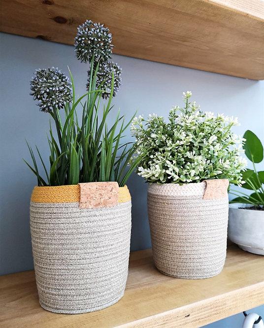 Hemp Plant Pot (Cork Finish)