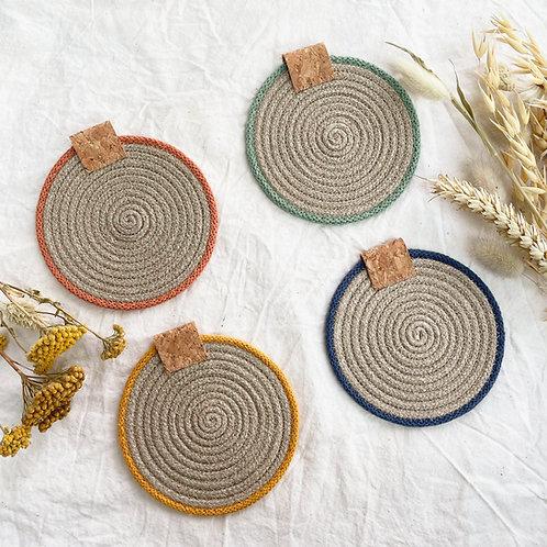 Hemp Coasters (Set of Four)