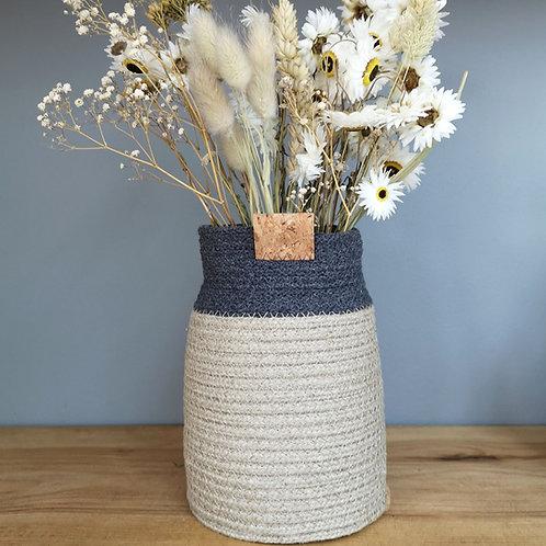 Charcoal Hemp Bud Vase