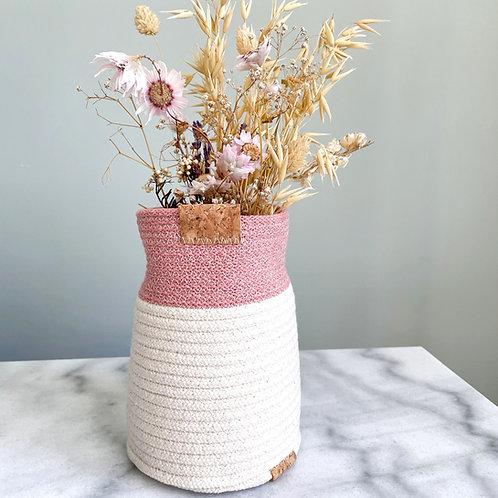 Blush Cotton Bud vase