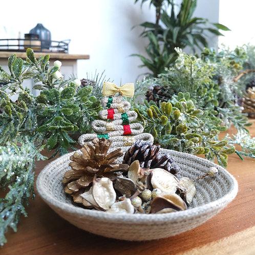 Christmas Tree Hemp Trinket Dish