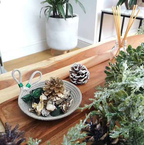 Mistletoe Hemp Trinket Dish