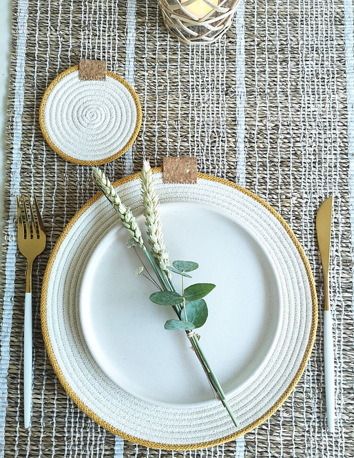 Mustard Cotton Rope Placemat (Set of Four)