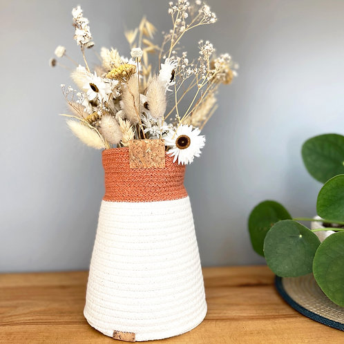 Terracotta Cotton Bud Vase