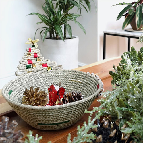 Christmas Tree Hemp Rope Bowl