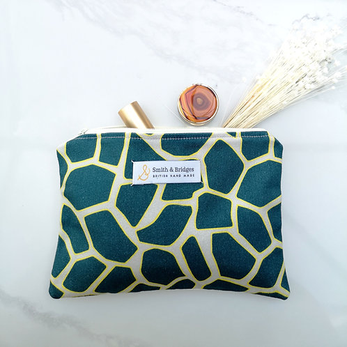 Abstract Tortoise Shell Cosmetic Pouch