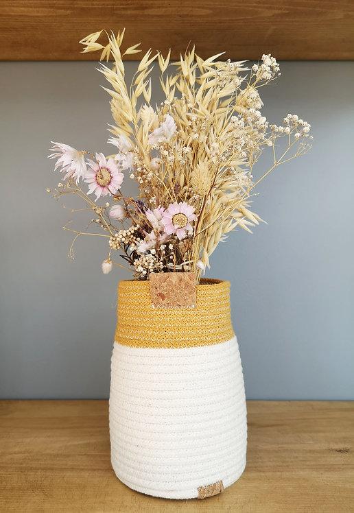 Mustard Cotton Bud Vase