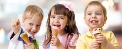 Kids eating IC