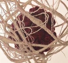 Protect detail - textile sculptural art