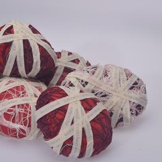 Memory Stones - textile sculpture art