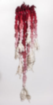 textile sculptural wall hanging: Awakening Belief