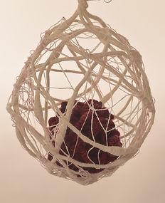 Protect detail - textile sculpture art