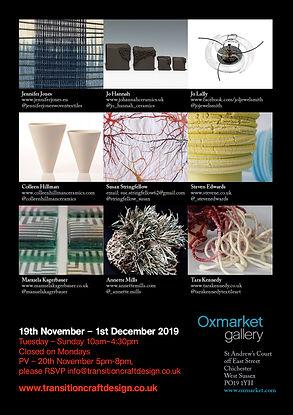 transition craft and design Oxmarket exhibition artists