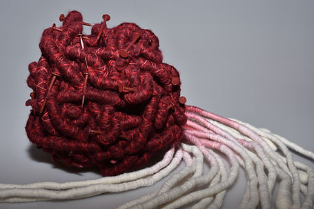textile sculpture art - Tara Kennedy Vleiseline FineArt Textile Award