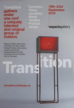 Transition craft and design Espacio gallery exhibition