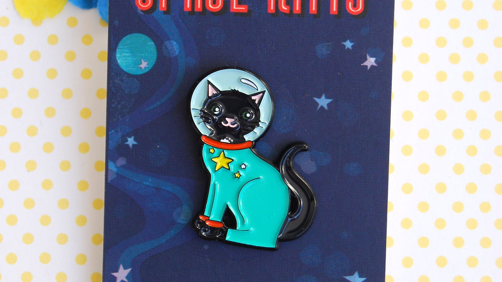 Space Kitty enamel pin/badge