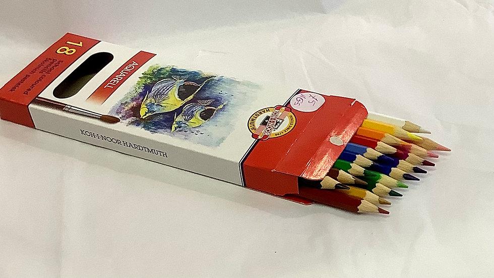 18 coloured pencils