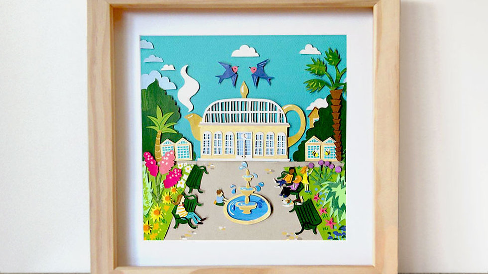 Botanical Gardens teapot art print