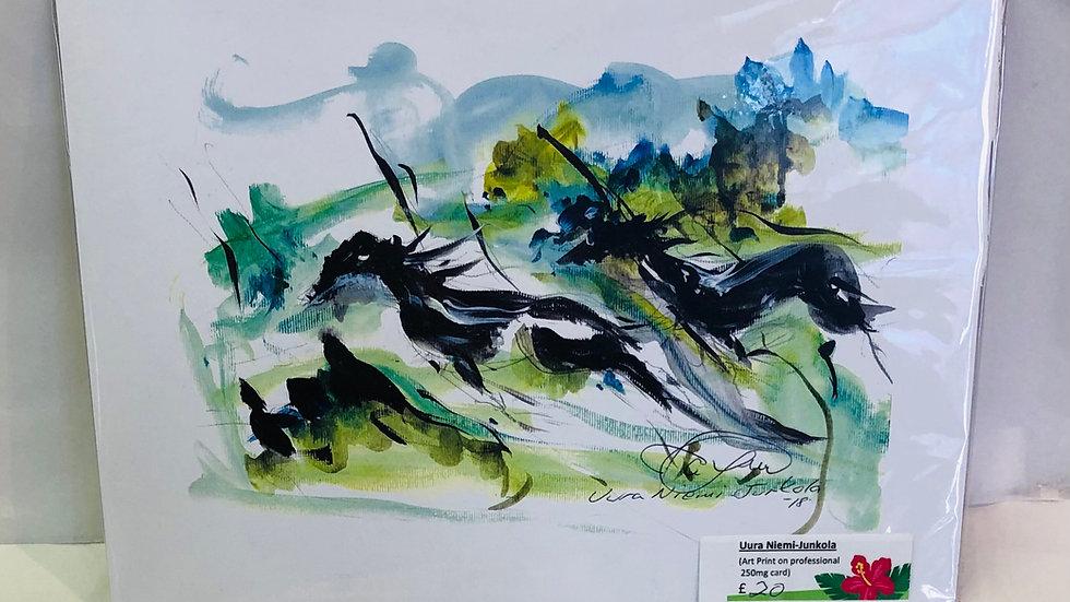 Horse Running Print