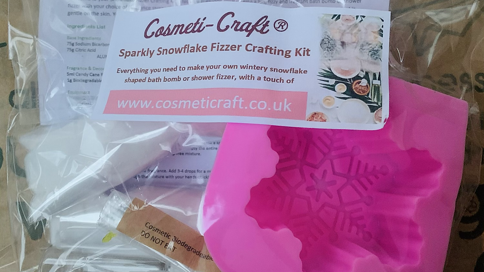 Cosmeti-Craft®️ Sparkly Snowflake Fizzer Crafting Kit