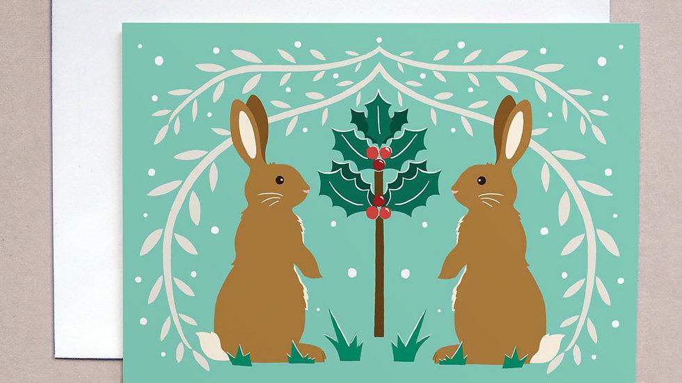 Christmas Rabbit card