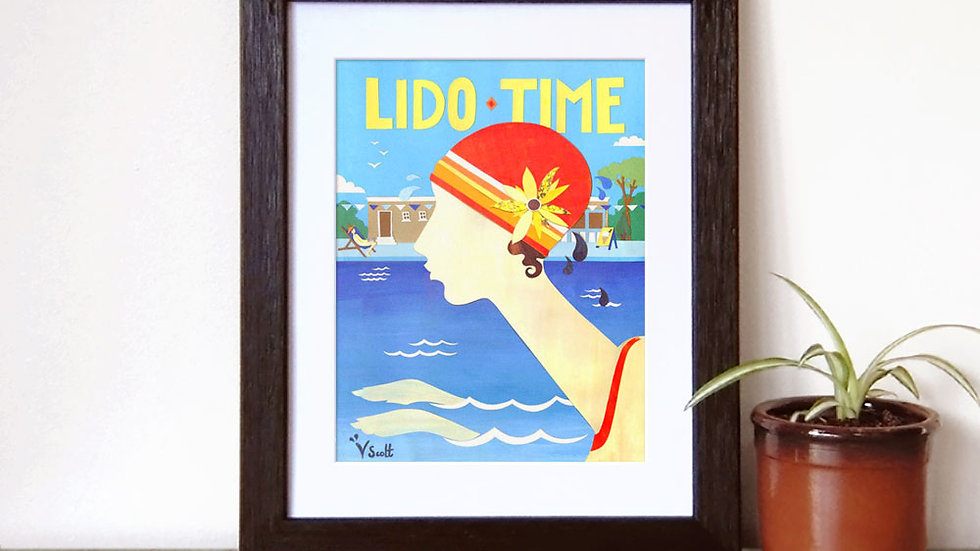 Lido Time limited edition signed print