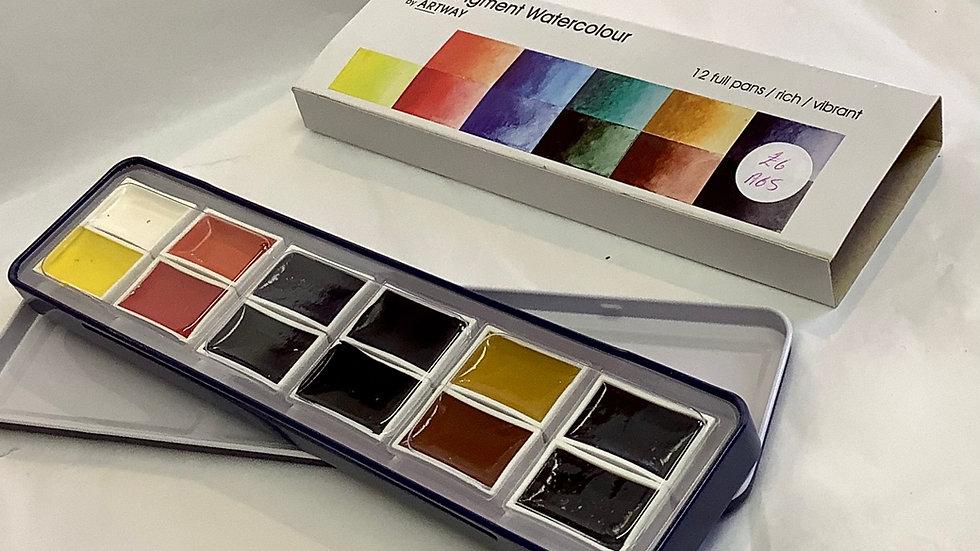 High pigment watercolour paints