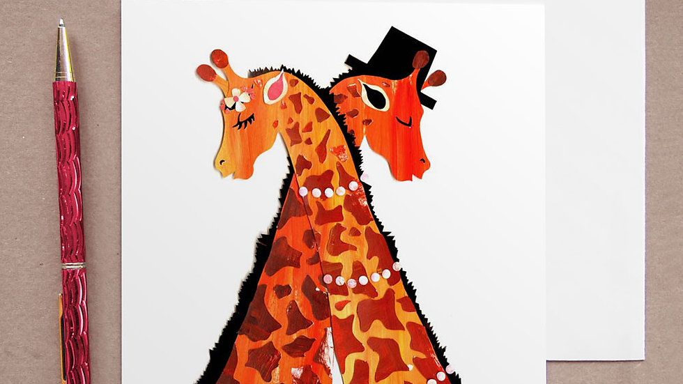 Giraffe Wedding card