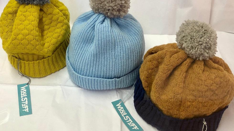 Pom Pom Knitted Hats